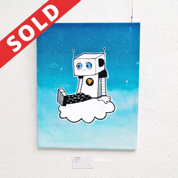 cloud 9, maria j andersen, the happy robots, art, odense, kunst